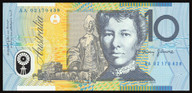 Australia - 2002 - $10 Polymer Note - AA02 170438 - First Prefix - Uncirculated
