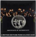 New Zealand - 2011 - Silver Dollar Proof Coin - All Blacks - The Haka