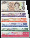 New Zealand - 1985 - Banknote Set - Russell - #833 - $1 $2 $5 $10 $20 $100 - Unc