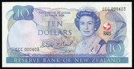 New Zealand - 1990 - $10 Commemorative Note - CCC000403 - aUnc
