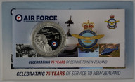 New Zealand - 2012 - Silver Dollar Proof Coin - 75 Years Of The RNZAF