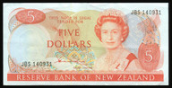 New Zealand - $5 Note - Hardie 'Type 2' - JBS140931 - Extremely Fine