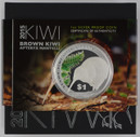 New Zealand - 2015 - Silver Dollar Proof Coin - Kiwi [Glow In The Dark]