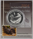 New Zealand - 2004 - Silver $5 Proof Coin - Chatham Islands Taiko