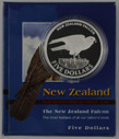 New Zealand - 2006 - Silver $5 Proof Coin - New Zealand Falcon