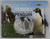 New Zealand - 2011 - Silver $5 Proof Coin - Yellow Eyed Penguin