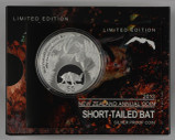 New Zealand - 2013 - Silver $5 Proof Coin - Short-tailed Bat