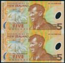 New Zealand - 1999 - $5 Uncut Polymer Pair - AA Prefix - With Presentation Folder