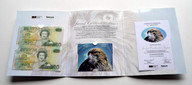 New Zealand - $20 Uncut Banknote Pair  & Phonecard - Telecom Second Release