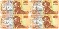 New Zealand - 1992 - $5 Uncut Block Of 4 - Paper Notes - AA Prefix
