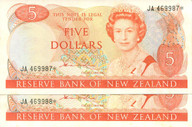New Zealand - $5 Star Note Pair - Hardie - JA469987* JA469988*