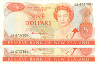 New Zealand - $5 Star Note Pair - Hardie - JA473780* JA473781*