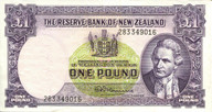 New Zealand - 1 Pound 283 Prefix - Fleming - 283 349016