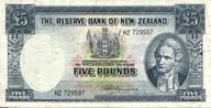 New Zealand - 5 Pounds - H2 Prefix - Fleming - H2 729597