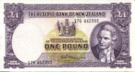 New Zealand - 1 Pound - 176 Prefix - Fleming - 176 442393