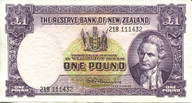 New Zealand - 1 Pound - 218 Prefix - Fleming - 218 111432