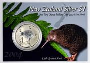 New Zealand - 2004 - Silver Dollar Specimen Coin - Little Spotted Kiwi