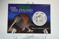New Zealand - 2008 - Silver Dollar Specimen Coin - Haast Tokoeka Kiwi