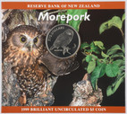 New Zealand - 1999 - $5 Uncirculated Coin - Morepork