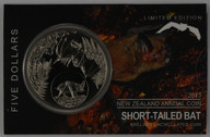New Zealand - 2013 - $5 Uncirculated Coin - Short-tailed Bat