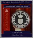 New Zealand - 2006 - Silver Dollar Proof Coin - Queen Elizabeth II 80th Birthday