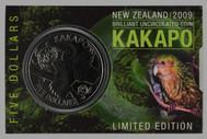 New Zealand - 2009 - $5 Uncirculated Coin - Kakapo