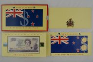 New Zealand - 1990 - Coin & Note Pack - $1 & $2