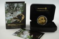 New Zealand - 2013 - $10 Gold Proof Coin - Kiwi Treasures