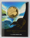 New Zealand - 2014 - $10 Gold Proof Coin - Kiwi Treasures