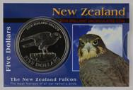 New Zealand - 2006 -  Brilliant Uncirculated $5 Coin - Falcon