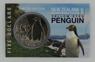 New Zealand - 2011 -  Brilliant Uncirculated $5 Coin - Yellow Eyed Penguin