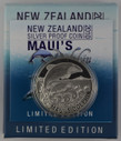 New Zealand - 2010 - Silver $5 Silver Proof Coin - Maui's Dolphin