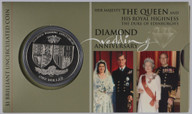 New Zealand - 2007 - $1 Uncirculated Coin - Royal Wedding Anniversary