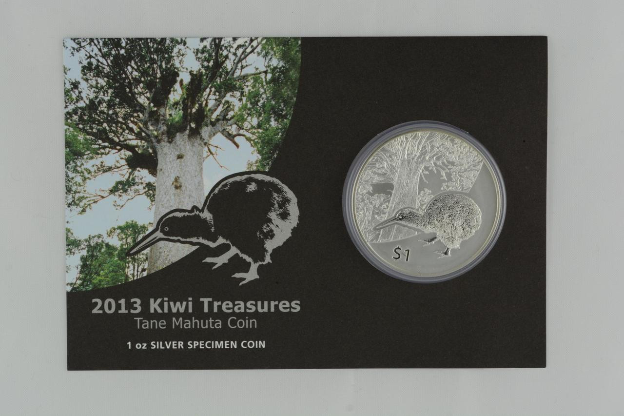 Kiwi Treasures 2012 New Zealand Uncirculated Silver Dollar Specimen Coin