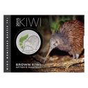 New Zealand - 2015 - Silver Dollar Specimen Coin - Glow In The Dark Kiwi