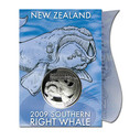 New Zealand - 2009 - Uncirculated Silver Dollar Specimen Coin - Southern Right Whale