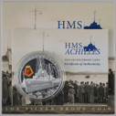 New Zealand - 2014 - Silver Dollar Proof Coin - HMS Achilles