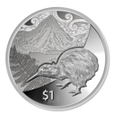 New Zealand - 2014 - Silver Dollar Proof Coin - Kiwi Treasures