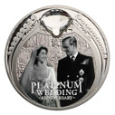New Zealand - 2017 - Silver Dollar Proof Coin - Platinum Wedding Anniversary