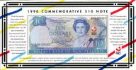 New Zealand - 1990 - $10 Commemorative Note - BBB Prefix