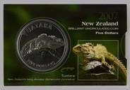 New Zealand - 2007 -  Brilliant Uncirculated $5 Coin - Tuatara