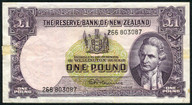 New Zealand - 1 Pound - 266 Prefix - Fleming - 266 803087