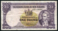 New Zealand - 1 Pound - 140 Prefix - Fleming - 140 146865