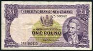 New Zealand - 1 Pound - 075 Prefix - Fleming - 075 580620