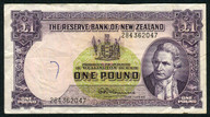 New Zealand - 1 Pound - 284 Prefix - Fleming - 284 362047