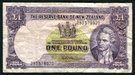 New Zealand - 1 Pound - 293 Prefix - Fleming - 293 578920
