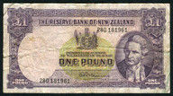 New Zealand - 1 Pound - 280 Prefix - Fleming - 280 181961
