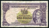 New Zealand - 1 Pound - 266 Prefix - Fleming - 266 041694