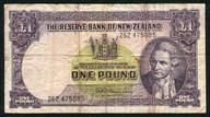 New Zealand - 1 Pound - 262 Prefix - Fleming - 262 475085