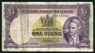 New Zealand - 1 Pound - 259 Prefix - Fleming - 259 132342